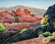 Perspective Paintings - Late Afternoon Hike by Kathy Dolan
