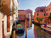 Late Afternoon In Venice Print by Elaine Plesser
