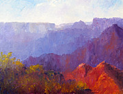 National Parks Paintings - Late Afternoon Light by Terry  Chacon