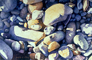 Riverbed Paintings - Late Afternoon Shadows by Bob Nolin