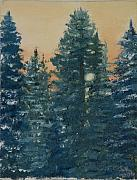 Snowscape Paintings - Late Afternoon Sun by Julie Kreutzer