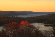 Autumn Foliage Prints - Late Autumn at Quabbin Print by John Burk