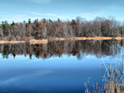 Refelctions Photos - Late Autumn Reflections by Deborah Benoit