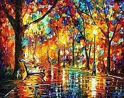 Night  Painting Originals - Late Date by Leonid Afremov