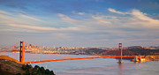 Golden Gate Framed Prints - Late Evening over San Francisco Framed Print by Brian Jannsen