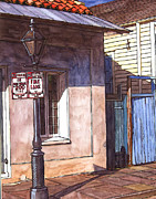 Mardi Gras Paintings - Late Evening Shadow by John Boles