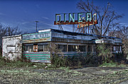Waitress Posters - Late for dinner. Abandoned empty diner. Poster by Robert Wirth