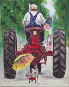 Parade Painting Posters - Late for the Parade Poster by Robin Wiesneth