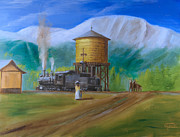 Water Tower Paintings - Late Morning in June by Christopher Jenkins