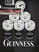 Vintage Advertising Posters - Late Night Guinness Limerick Ireland Poster by Teresa Mucha