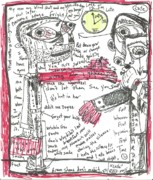 Art Brut Drawings - Late by Robert Wolverton Jr