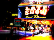 Pix Framed Prints - Late Show on Manhattans Broadway Framed Print by Funkpix Photo Hunter