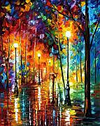 Afremov Art - Late Stroll by Leonid Afremov