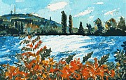 Quebec Paintings - Late Summer Afternoon by Ion vincent DAnu
