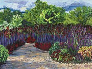 Longfellow Paintings - Late Summer in Longfellow Gardens by Christina Plichta