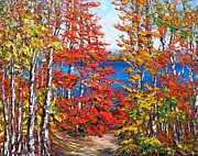 Pathway Paintings - Late Summer Ottawa River by Margaret Chwialkowska