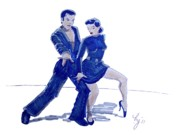 Dramatic Mixed Media Originals - Latin Ballroom by Mike Jory