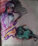 Saxophone Mixed Media - Latin Jam by Jamey Balester