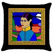 Janine Antulov - Latin Lady Pillow Cover