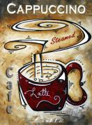 Food And Beverage Paintings - Latte by MADART by Megan Duncanson