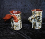 Mugs Ceramics - Latte Karamell Mugs by John Johnson