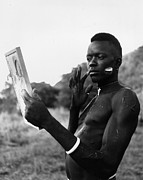 Young Man Framed Prints - Latuko Tribesman Framed Print by Bert Hardy
