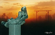 Sunset Sculpture Prints - LAube Print by Wolfgang Karl