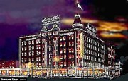 Salt Lake Painting Prints - Lauerbachs Department Store In Salt Lake City Ut In 1910 Print by Dwight Goss