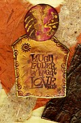 Polymer Clay Posters - Laugh Poster by Angela L Walker