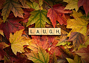 Forgive Prints - LAUGH-Autumn Print by  Onyonet  Photo Studios