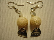 White Pearl Jewelry - Laugh In Pearl Earrings by Jenna Green