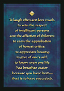 Often Framed Prints - Laugh often and love much Framed Print by Digital Crafts