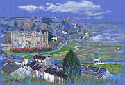 Great Britain Drawings - Laugharne Estuary by Lynn Blake-John