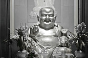 Smiling Prints - Laughing Buddha - A symbol of joy and wealth Print by Christine Till - CT-Graphics