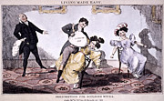Laughing Posters - Laughing Gas, 1830 Poster by Granger