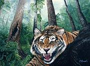 The Tiger Paintings - Laughing Tiger by Pravit Rojawat