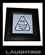 Emoticon Framed Prints - Laughting Framed Print by Sirajudeen Kamal Batcha