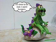 Clay Drawings - Laughzilla Gets Real 3d by Yasha Harari