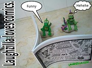Clay Drawings - Laughzilla Loves Comics by Yasha Harari