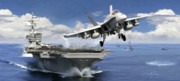 Aircraft Carrier Prints - Launch Print by Dale Jackson