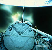 Featured Metal Prints - Launch Of A Business Satellite Metal Print by NASA / Science Source