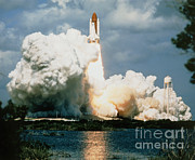 Atlantis Framed Prints - Launch Of Shuttle Atlantis On Sts-34 Framed Print by NASA / Science Source
