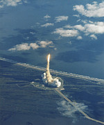 Featured Metal Prints - Launch Of Space Shuttle Atlantis, Sts-27 Metal Print by NASA / Science Source