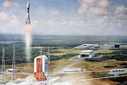 French Guiana Prints - Launch Pad Model, Guiana Space Centre Print by Ria Novosti