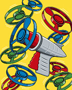 Pop Art Art - Launcher Gun by Ron Magnes