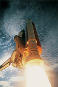 Satellite View Posters - Launching Of The Space Shuttle Poster by Stockbyte