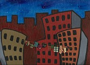 Building Mixed Media Originals - Laundered Night by Sara  Burns