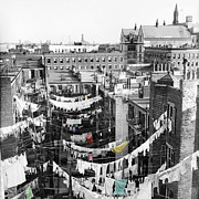 Tenements Prints - Laundry Day Print by Andrew Fare