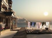 Horizontal Art - Laundry Day by Cynthia Decker