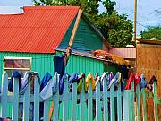 Shed Prints - Laundry Day Print by Debbi Granruth